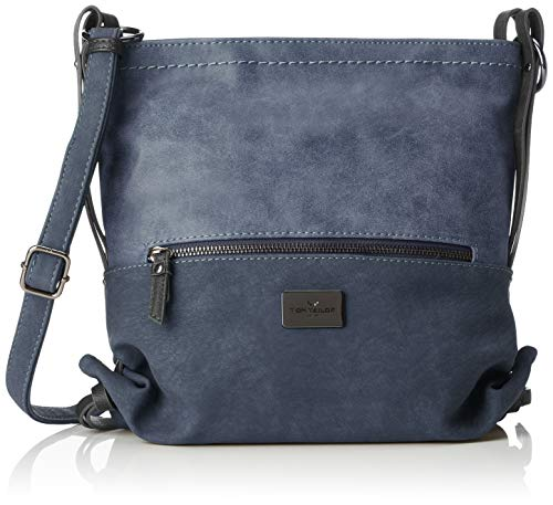 TOM TAILOR Umhängetasche Damen Elin, Blau (Blau), 9x26x28.5 cm,, Damen Handtasche TOM TAILOR Handtaschen, Taschen für Damen, klein