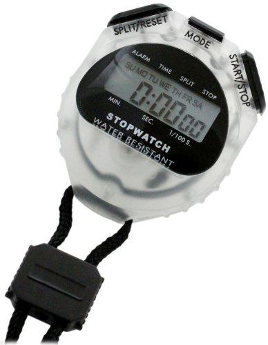 [クレファー]CREPHA デジタルストップウォッチ 日常生活防水仕様 ブラック TCE-2056-BK