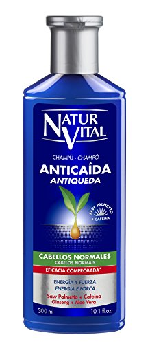 NaturVital Naturaleza y Vida Champú Anticaída Cabellos Normales, Azul, Fresh, 300 Mililitros