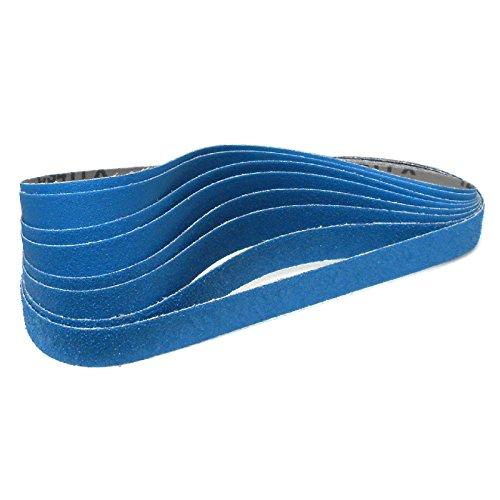 Klingspor CS 411 X Schleifband | 25 x 762 mm | 8-teiliges Premium-Set | Je zwei Bänder der Körnungen 40,60,80 und 120