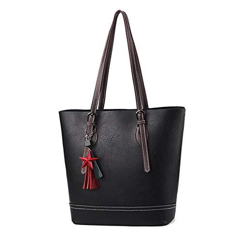 Lady Handtaschen-mode Atmospheric Große Kapazität Eimer Pu Schulter-schiebeleite Tragen Handtasche
