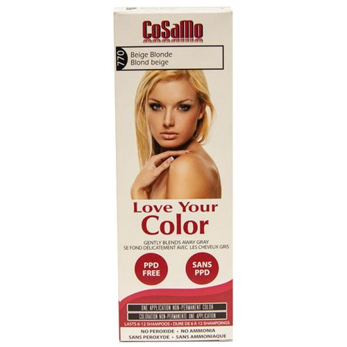 CoSaMo Love Your Color Hair Color 770 Beige Blonde (Pack of 3)
