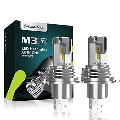 KOOMTOOM Auto LED Head Light Bulbs Headlights Convertion Kit, 10000LM 50W 6500K - 2 Pack