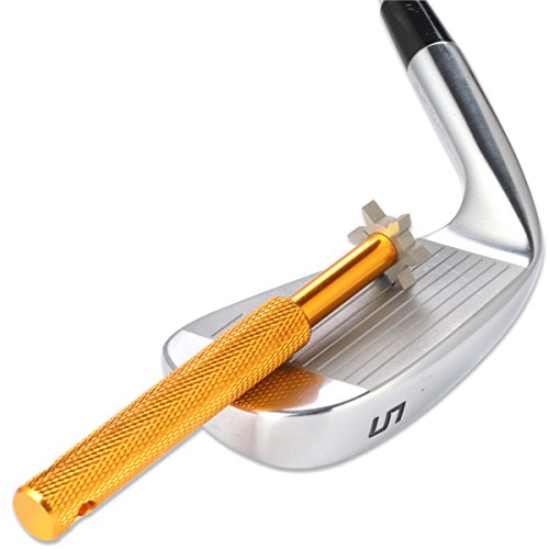 Golf Club Groove Sharpener with 6 Heads - Ideal for Optimal Backspin and Ball Control - Perfect Tool for All Irons - Pitching, Sand, Lob, Gap, and Approach Wedges and Utility Clubs