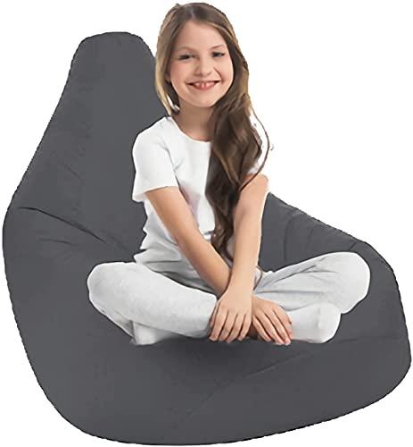 WDSZXH High Back Recliner Gaming Sitzsack Cover, Sofa Solide Farbe Einfache Design Bohnenbeutel Aufbewahrungsstuhlabdeckung für Wohnzimmer Schlafzimmer ohne Füllung, rot, 75x85cm