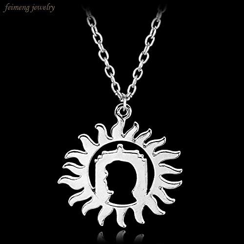 YUNMENG Moda Sherlock Dr Who Collar con Encanto Sobrenatural Plateado Mujeres Hombres Colgante Collar joyería