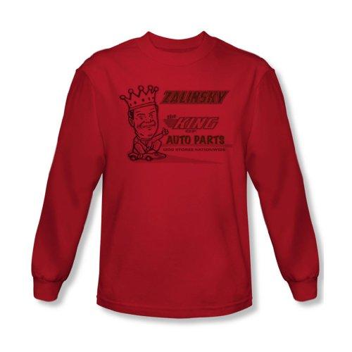 Tommy Boy - Zalinsky Auto-shirt à manches longues pour hommes en rouge -, Large, Red