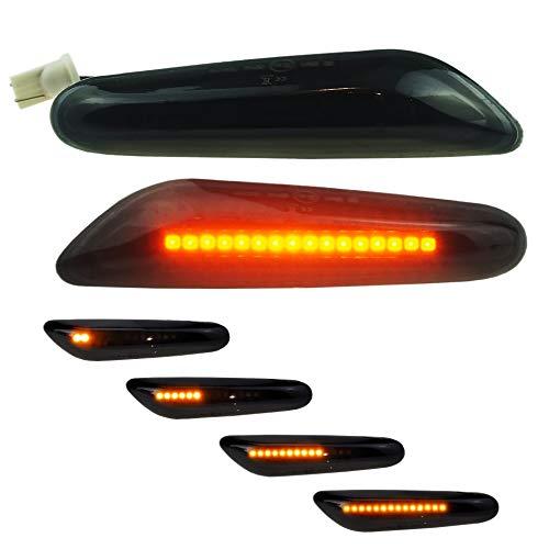 DoLED dynamische LED Seitenblinker Laufblinker schwarz black smoked mit E-Prüfzeichen