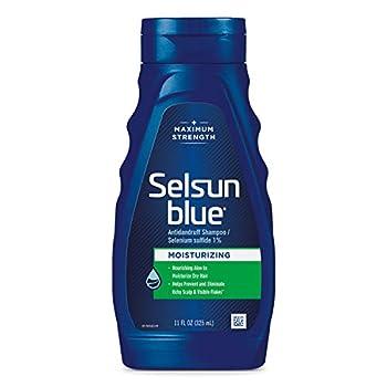 Selsun Blue Moisturizing with Aloe Dandruff Shampoo 11 Fl Oz Pack of 1