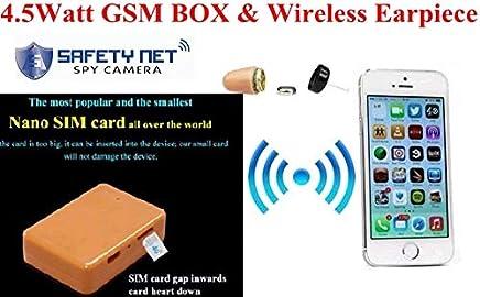 5fdb7ff60d2 CAM 360 Nano SIM Card GSM Box with Hidden in Ear Wireless earpiece spy kit