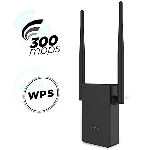 Traioy WiFi Extensor De Alcance, con 2 Antenas Externas De Enrutamiento Mejorado Router 2.4Ghz Repetidor, Amplificador De La Señal Booster 300Mbps Inalámbrico A Internet Ap Expander