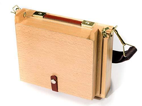 ArtCoe Pastellfarben-Aufbewahrungsbox 254x 304mm groß Pochade Box to Take Malerei Boards, Buche
