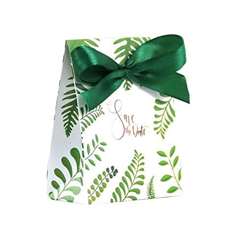 MAUAP Hojas Caja de Papel Caja de Caramelo envasado Chocolate Fiesta Favor y Cajas de Regalo Jungla Hawaiian Boda decoración (Color, Gift Box Size : 10pcs)