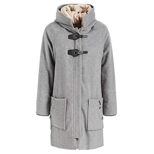 khujo Damen Mantel Maddi with Detachable Hood 1729CO183 Grey-Melange L