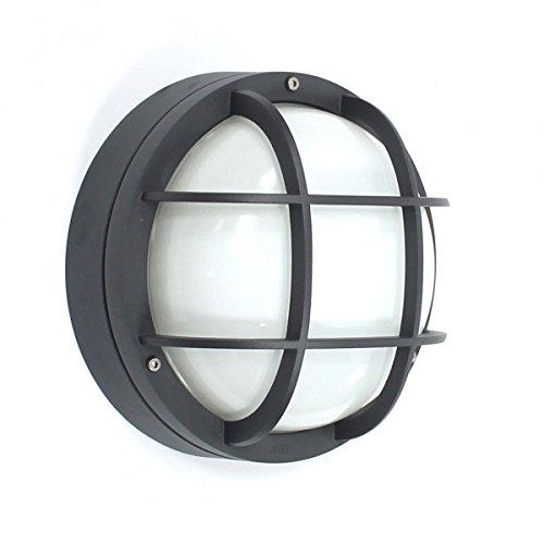 BEGA 22878 (2878) Decken- und Wandleuchte mit Schutzgitter grafit 1xE27 AGL max 100W ohne Leuchtmitt