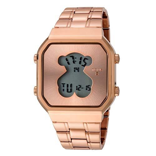 Reloj tous D-Bear SQ de acero IP rosado Ref:600350290
