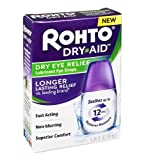 Rohto Dry-Aid Dry Eye Relief Lubricant Eye Drops - .34 oz, Pack of 5