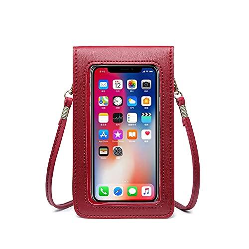 Bolso de Teléfono Móvil con Pantalla Táctil para Mujer Cartera Movil ,Diario Bolso de Teléfono Móvil con Pantalla Táctil Alta Capacidad Bolso Bandolera
