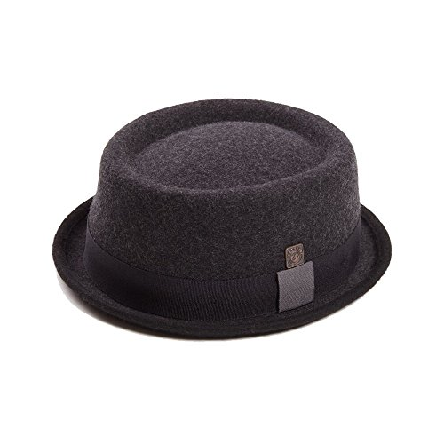 DASMARCA Tony Slate Inverno Lana Feltro avaro Brim Porkpie Cappello - XL