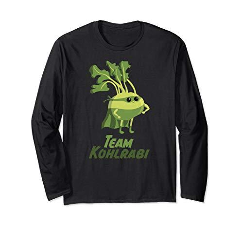 Kohlrabi | Gemüse Vegetarier Vegan Superfood Superheld Langarmshirt