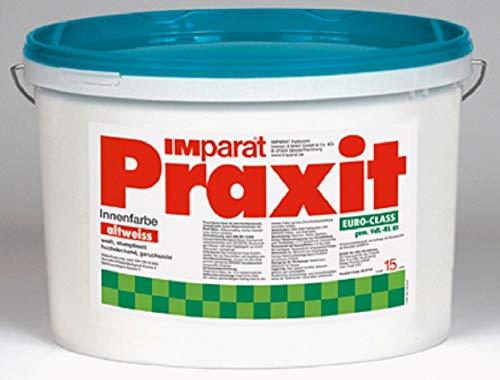 IMparat PRAXIT EuroClass Profi Wandfarbe Klasse 1 Profi Innenfarbe Innen ALTWEIß 15 L