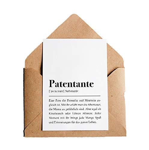 Grußkarte Patentante: DIN A6 Karte mit Umschlag
