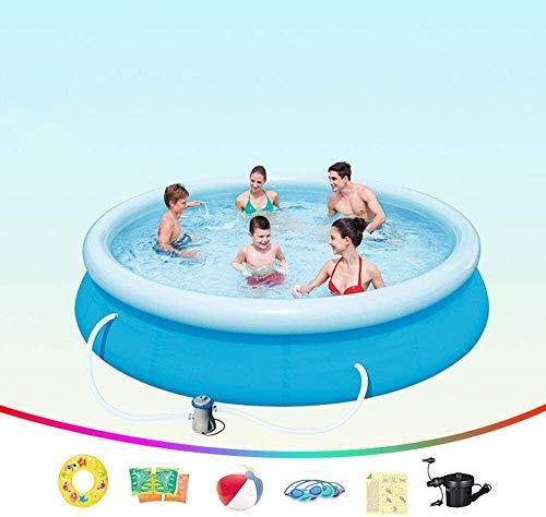 HLJ Piscinas inflables 366X76cm, los Hijos Adultos Piscina Inflable con Filtro de la Bomba, la Familia de jardín al Aire Libre de PVC Piscina for niños