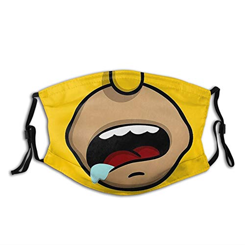 Homer Simpson Reusable Mask Unisex Adjustable Washable Outdoor Face Cover