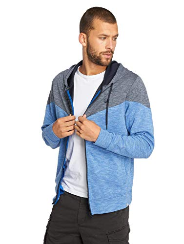 Jack & Jones Jcochevron Sweat Zip Hood Sudadera, Azul (Nautical Blue Nautical Blue), Small para Hombre