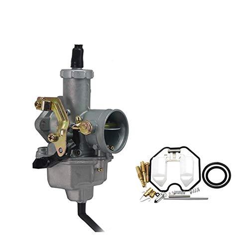 Carb Carburetor, PZ27 27mm / Fit for - Keihin/Carburetor with Repair Kit Cable Choke Motor Bike/Fit for - H-ON-D-A/XR C-B XL CRF,Carb Carburetor,Motorcycle Carburetor (Color : Auto Set)