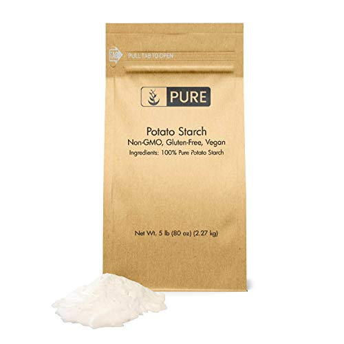 Potato Starch (5 lbs), Gluten-Free, NON-GMO, All-Natural, Thickener For Sauces, Soup, & Gravy, No Added Preservatives Or Artificial Ingredients