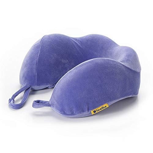 Travel Blue Nackenkissen 212 Lila Reisekissen ergonomischer bequemer Memory-Schaumstoff - EIN Flauschiges Reisezubehör für den perfekten Schlaf während der Reise.
