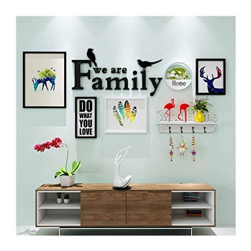 Jjek fotolijst creatieve fotomuur, 3D acryl decoratieve bloem mand plank decoratie combinatie, 165x85cm