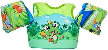 SIMYJOY Swimming Float Vest Swimming Pool Float Armbands Swim Training Jacket for Toddler 2-8 Years Old