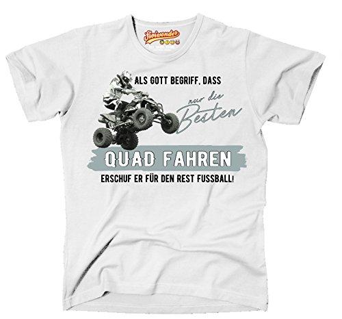 Siviwonder Gott besten Quad Fahren Vintage Bike NO Fußball ATV Motorrad - Unisex T-Shirt Shirt weiß XL