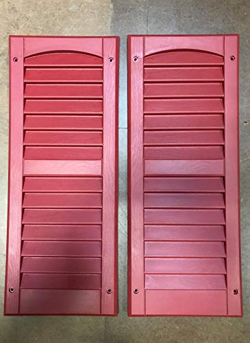 """OUTDOOR PLAY AND STORAGE SHED SHUTTERS - 9""""X22""""- Brick RED (Pair)"""