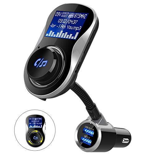 BC26BQ Cargador de Coche Bluetooth Bluetooth MP3 Coche Coche Coche Teléfono manos libres Pantalla Grande Coche MP3