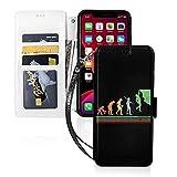 Étui de téléphone LINGF,étui d'escalade pour iPhone 11 étui Mignon pour Femmes Hommes Portefeuille étui en Cuir avec Sangle étui de Protection
