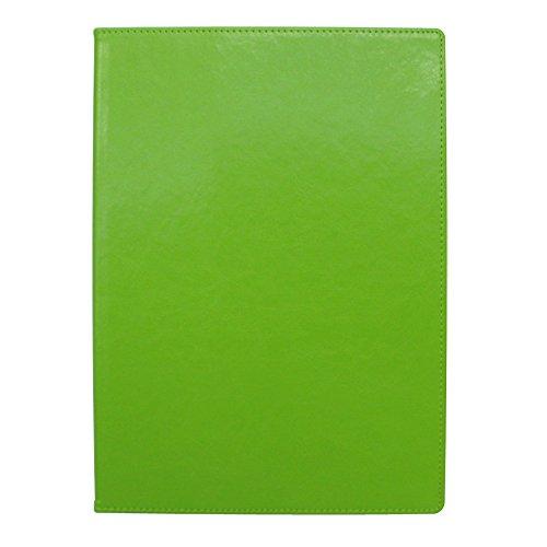 手帳カバー A5 グリーン ノートカバー ブックカバー 無地 横開き 合皮 手帳式 PUレザー