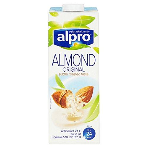 Alpro sans produits laitiers amande Longlife Boisson 1L (Lot de 8 x 1ltr)