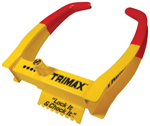 Trimax TCL75 Deluxe Universal Wheel Chock Lock-Yellow/Red