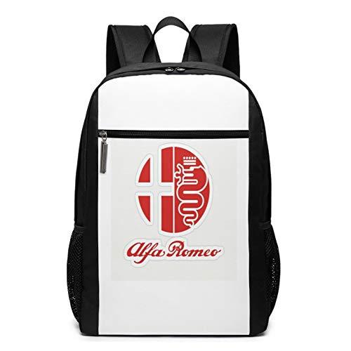 A-lfa R-omeo - Mochila para portátil para mujer y hombre, mochila vintage, mochila universitaria, bolsa de viaje para portátil