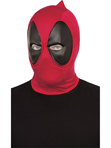 Rubie's Costume Co. Men's Deadpool Deluxe Fabric Overhead Mask, Red, One Size