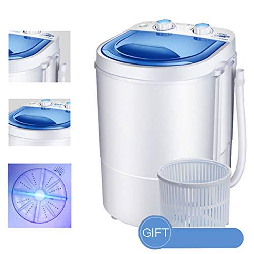 GAYBJ Lavadora portátil Lavadora portátil Mini Mini lavandería 3 Kg Mini Lavadora portátil Single-Cuba de Lavado de la máquina Reloj de Control,B