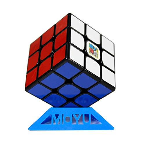 OJIN MoYu MoFang JiaoShi MF3RS3 3x3x3 Cubo Cubing Aula MF3 RS3 V3 Rompecabezas de Cubo de Velocidad 3X3 con un trípode de Cubo (Negro)