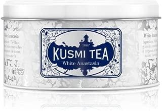 Kusmi Tea - White Anastasia - White Tea Blend with Citrus, Bergamot & Lemon - 3.2oz of All Natural Loose Leaf Green and White Tea Blend with No Additives in an Eco-Friendly Metal Tin (35 Servings)