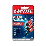 Loctite Super Glue-3 Mini dose, colle extra forte pour réparations qualité, colle forte & rapide tous matériaux, colle universelle liquide en format doses, 3 x 1 g