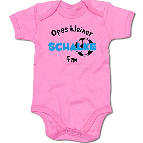 G-graphics Opas Kleiner Schalke Fan Baby Body Suit Strampler 250.0289 (0-3 Monate, pink)