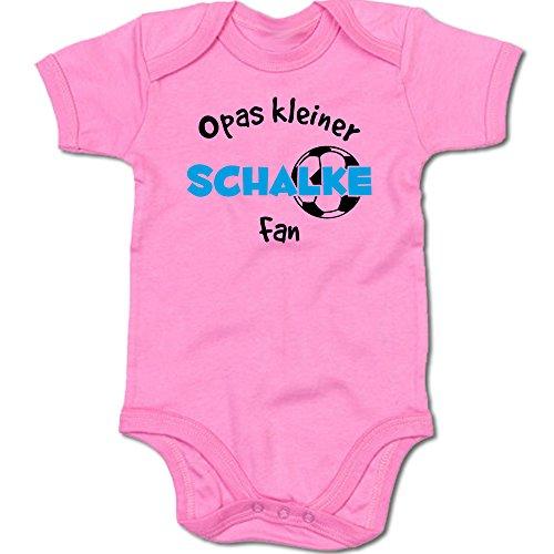 G-graphics Opas Kleiner Schalke Fan Baby Body Suit Strampler 250.0289 (3-6 Monate, pink)