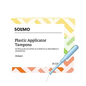 Amazon Brand - Solimo Plastic Applicator Tampons
